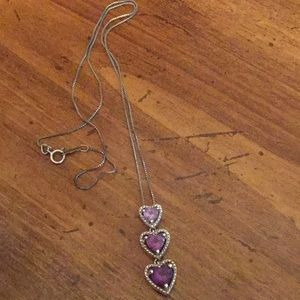 Stacked Purple Heart necklace